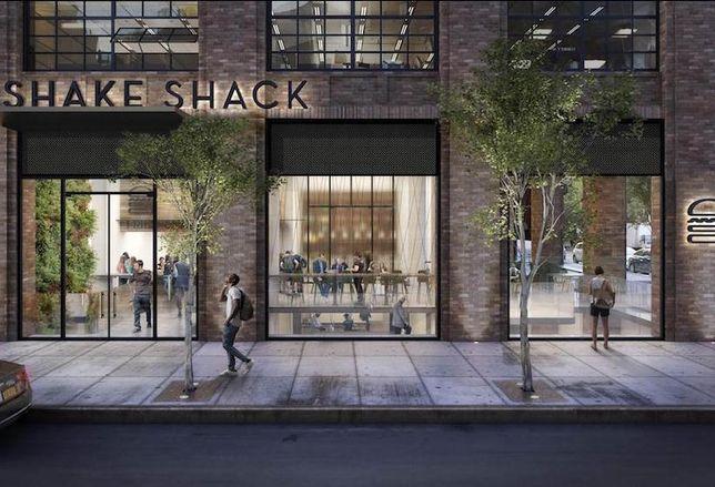 Shake Shack's new flagship restaurant and headquarters at 225 Varick St. in Manhattan