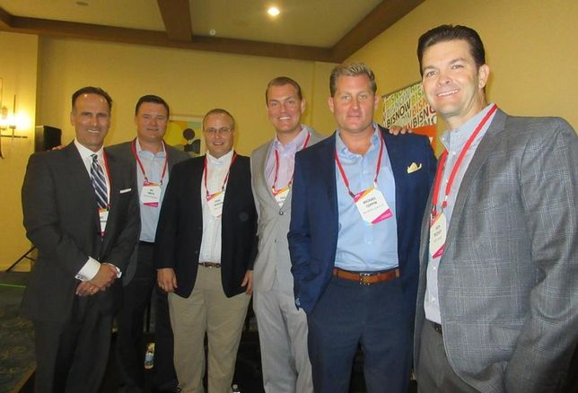CBRE's Kurt Strasmann, Greenlaw Partners' Wil Smith,  Menlo Equities Chad Iverson, Harbor Associates Paul Miszkowicz, McCarthy Cook & Co.'s Michael Coppin and  Equity Office's Rich McEvoy