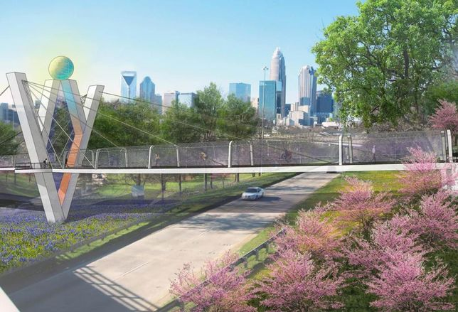 Cross Charlotte Trail Bridge Concept 2 Rendering
