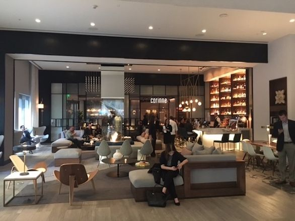 The lobby in Le Meridien Hotel is a great place to hang out.
