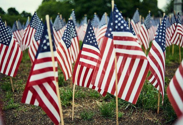 U.S. veterans, military, American flag