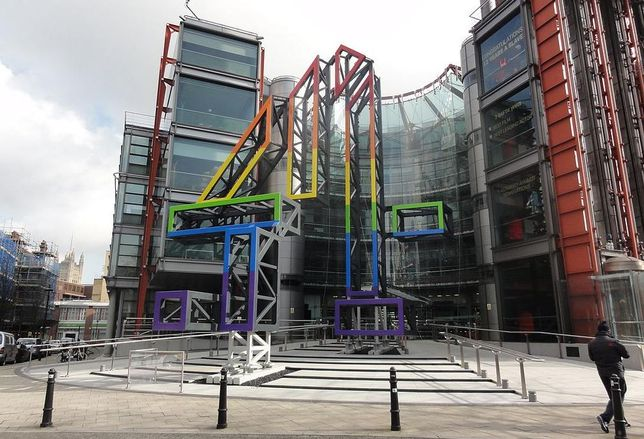 124 Horseferry Road, London, SW1 designed by Richard Rogers, currently HQ of broadcaster Channel 4