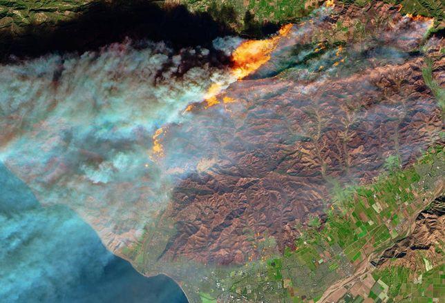 NASA Thomas Fire image