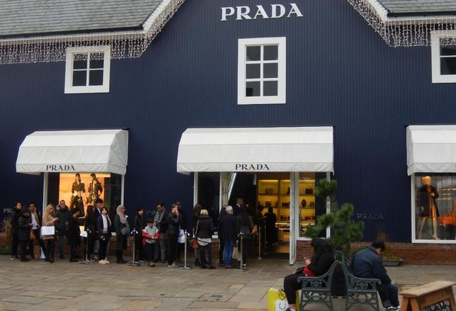 The Prada store at Bicester outlet village, Oxfordshire, UK