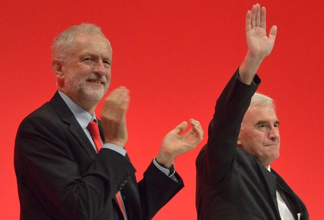 Jeremy Corbyn, leader of the UK Labour Party, and John McDonnell, Shadow Chancellor
