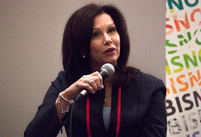 Cushman & Wakefield Executive Director Beth Lambert at Bisnow's Dallas Capital Markets & 2018 Forecast event