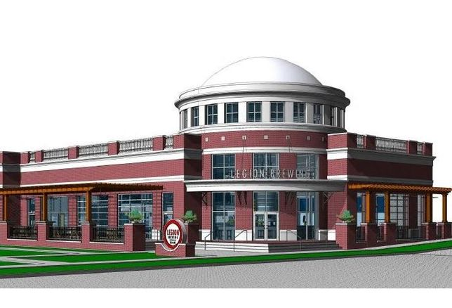Rendering of Legion Brewing Company in SouthPark, Charlotte, North Carolina