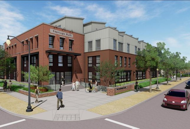 Chapman University's new student housing building will provide 402 beds for undergraduates.