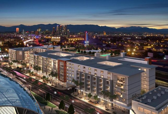 Rendering of Ventus Group's The Fig, a $300M mixed use development in downtown Los Angeles.