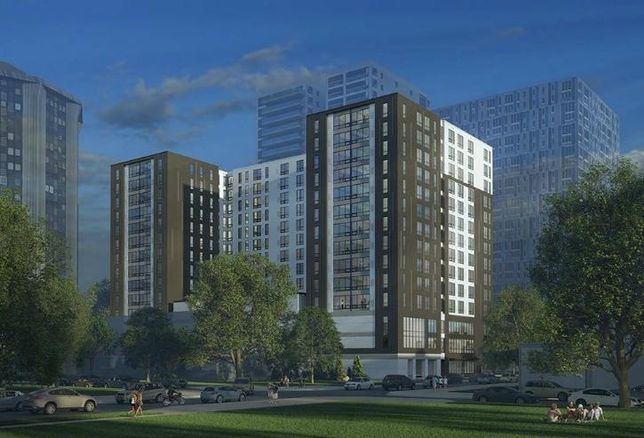 A rendering of Opus Group's 14-story student housing project in Champaign, Illinois