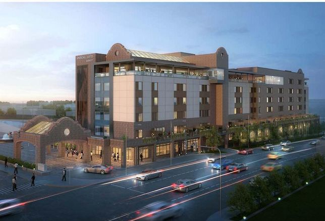 Rendering of Springhill Suites in the Fort Worth Stockyards