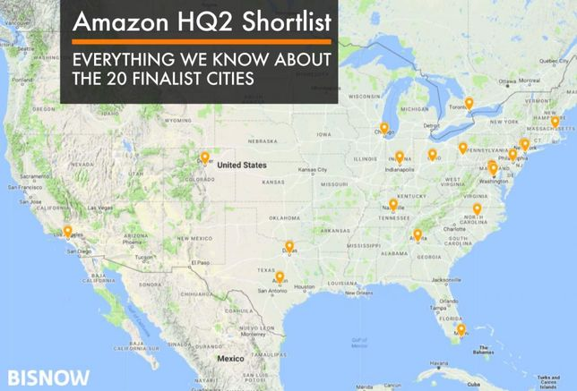 Amazon HQ2 Shortlist: Details On The 20 Finalists In $5B Sweepstakes