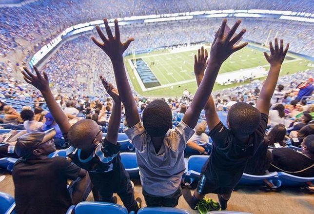 Bank of America Stadium, home of the Carolina Panthers