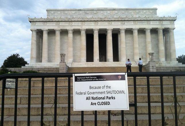 Lincoln Memorial government shutdown