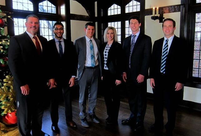 2017 SIOR Chicago Chapter President Jason West; Mohammed Ali Khan, University of Illinois; Eric Richard, Roosevelt University; Tracy Collins, Roosevelt University; Kevin Tazalla, Northwestern University and Cushman & Wakefield Executive Director Sean Henrick.