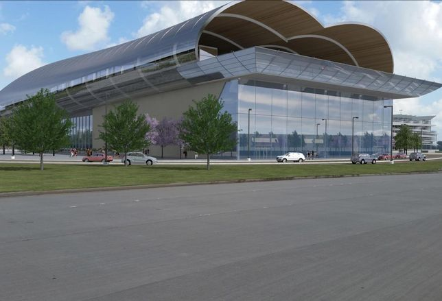 Conceptual rendering of Northwest Mall Terminal in Houston