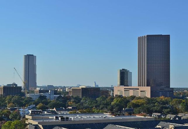 Marathon Oil Tower and San Felipe Plaza in Uptown Houston