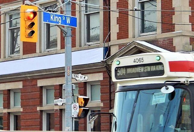 King Street Transit Pilot Project Mayor Tory streetcar winter Toronto downtown