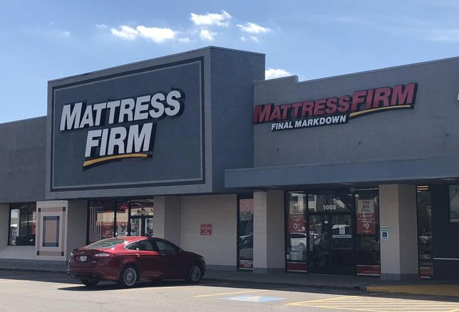 Two Mattress Firm locations next door to each other In Houston
