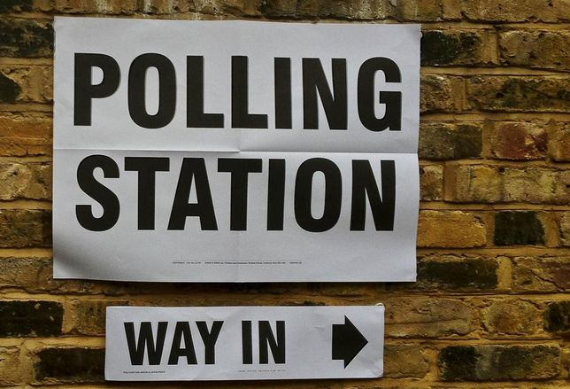 UK elections polling station