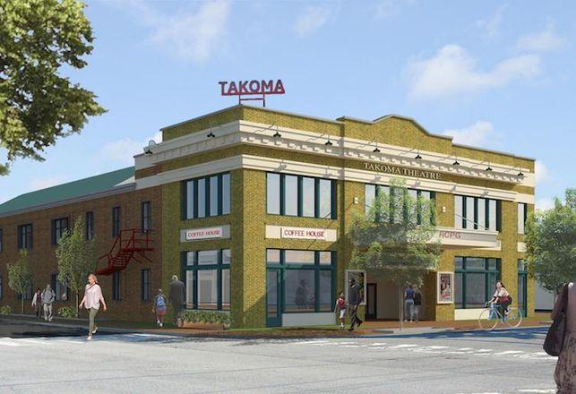 Exterior Rendering Takoma Theatre