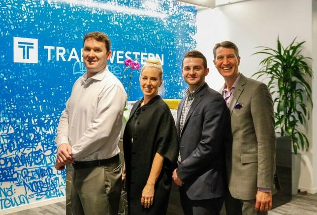 Transwestern Executive Vice President Kevin Moore, Senior Associate Kimberlyn de Buhr, Business Analyst Stephen Sevenich and Executive Vice President John Ziesmer