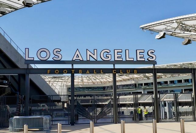The Los Angeles Football Club held a ribbon cutting for its new Banc of California Stadium in Exposition Park in Los Angeles