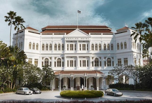 Raffles Hotel in Singapore was built in 1887 and launched a global luxury hotel brand.