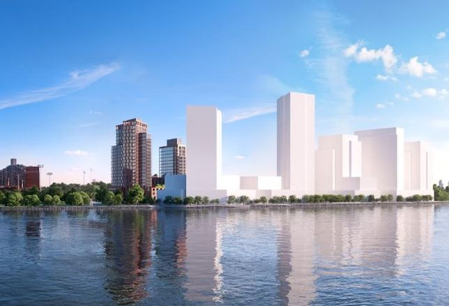 Rendering of Halletts Point, the $1.5B megaproject in Queens the Durst Organization plans to build