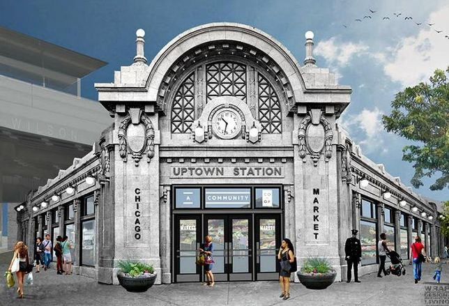 Chicago Market, a food cooperative, is opening a 13K SF grocery store inside the historic Gerber Building underneath the Wilson Avenue 'L' station in late 2019.