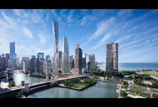 A rendering of Related Midwest's plans at 400 North Lake Shore Drive