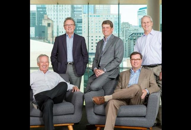 Ryan Cos. Chairman Emeritus, Tim Gray, Board Chairman Pat Ryan, President Jeff Smith, Chief Investment Officer Mike McElroy and CEO Brian Murray