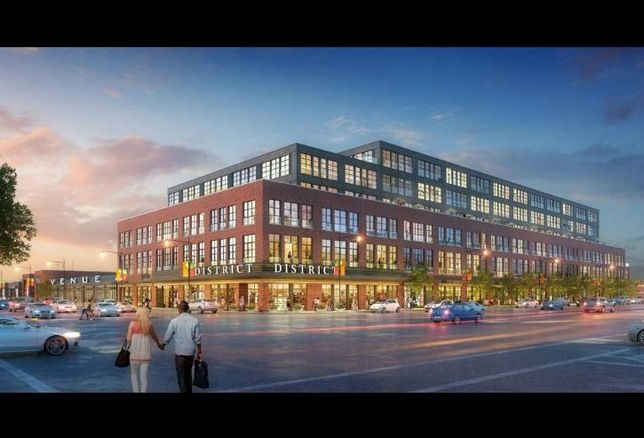 A rendering of Tucker Development's plans to redevelop a vacant Sears store in Chicago's Galewood neighborhood.