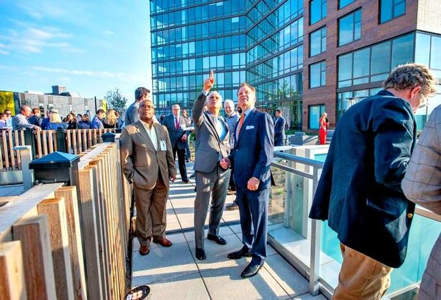 Mayor Rahm Emanuel, along with more than 450 guests, attended the grand opening of Spoke Apartments in River West