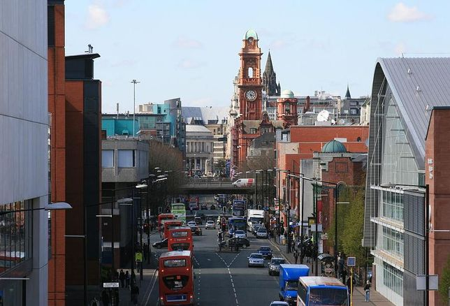 Oxford Road, looking north, Manchester