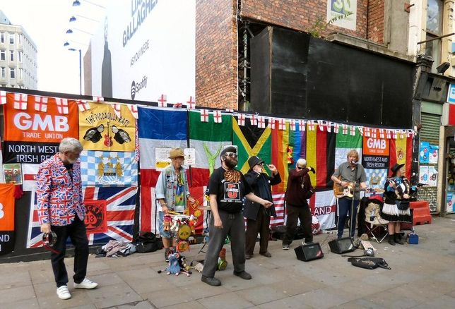 Lever Street Piccadilly Manchester buskers
