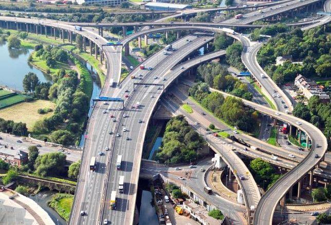 Spaghetti junction, Birmingham motorway