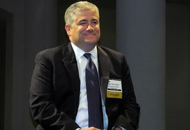 Former head of Brookfield's U.S. office division Paul Schulman, pictured at a Bisnow event in 2013.