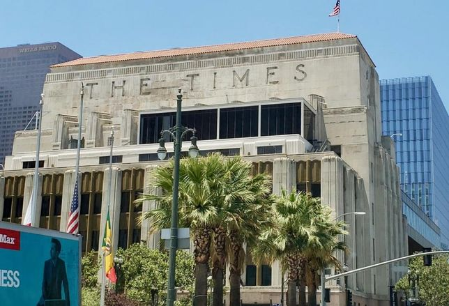 The LA Times building in downtown Los Angeles