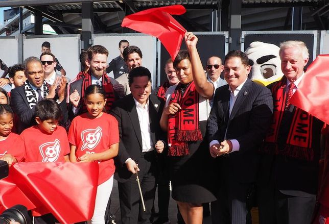Audi Field ribbon cutting