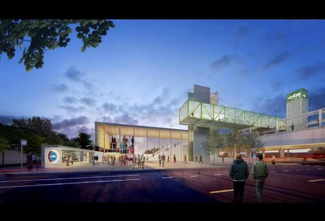 A rendering of CTA's upcoming Damen Green Line 'L' station.