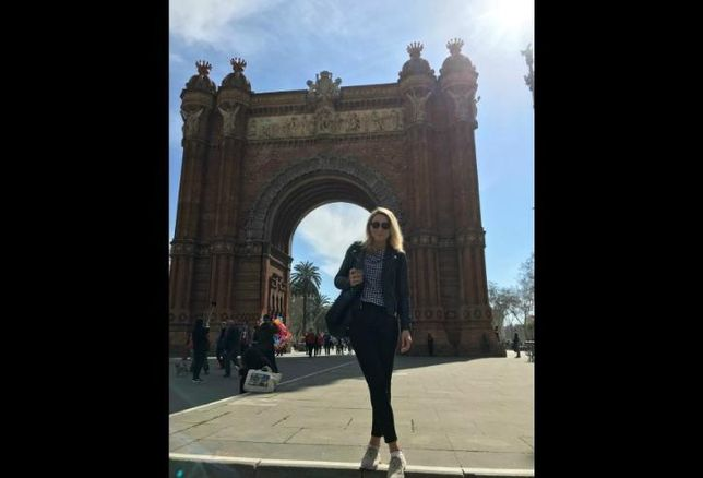 Marcus & Millichap's Madison O'Connor, pictured in Barcelona, Spain.