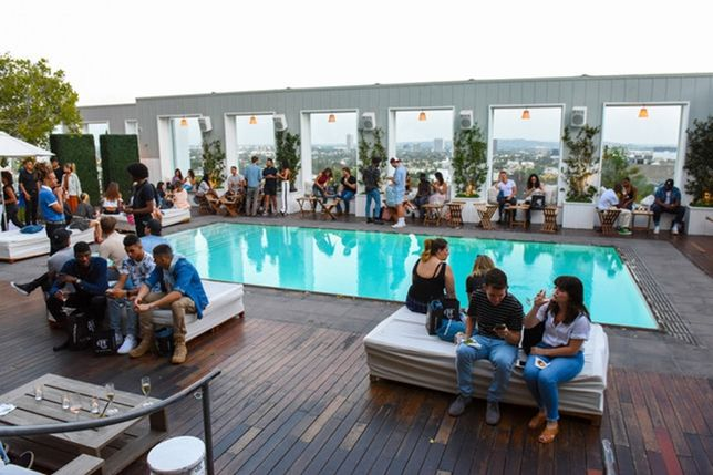 A&F's Do It Denim launch at the Mondrian Los Angeles, an SBE property