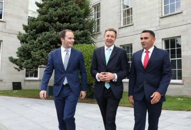 Left to right: Steven McKenna (CEO, Sherry FitzGerald Group), George Roberts (Head of UK & Ireland, Cushman & Wakefield), Aidan Gavin (Head of Ireland, Cushman & Wakefield)