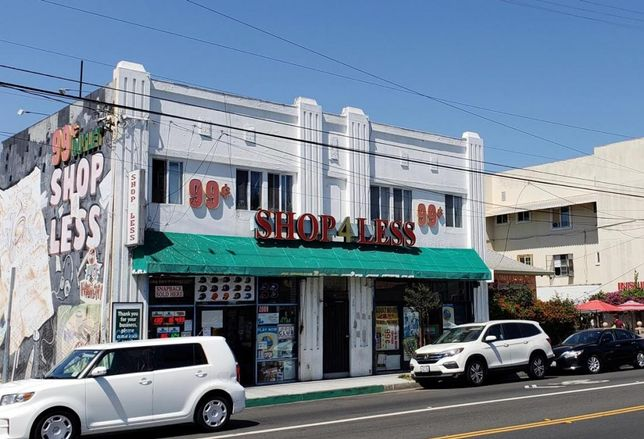 A retail building in one of the opportunity zone designated tracts in Long Beach