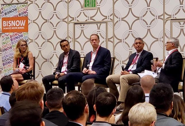 Sheppard Mullin's Pam Westhoff, CohnReznick's Rony Rodriguez, USC Sol Price Center for Social Innovation Gary Painter, Strategic Realty Holdings Eddie Lorin and Kosmont Cos. Larry Kosmont