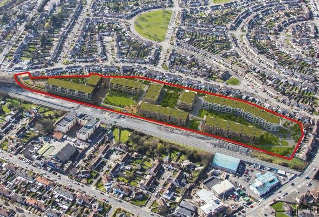 CGI of Cabra site with planning permission for 420 residential units