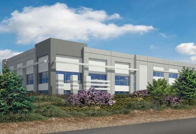 Rendering of one of Black Creek's planned distribution centers in Tracy