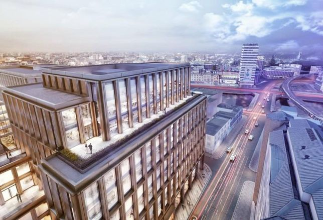 Artist's rendering of the office building to replace Apollo House