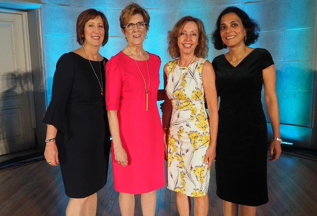 Coakley & Williams Construction's Lynn Stith Bennett, Citizens Financial Group's Barbara Mackin L&L Advisors' Leslie Ludwig and Capital One's Sadhvi Subramanian